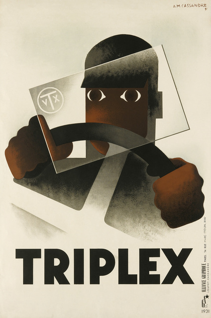 Adolphe Mouron Cassandre, 'TRIPLEX', 1931, Swann Auction Galleries