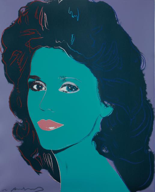 Andy Warhol, 'Jane Fonda', 1982, Print, Unique screenprint in colors, on Lenox Museum Board, the full sheet, Phillips