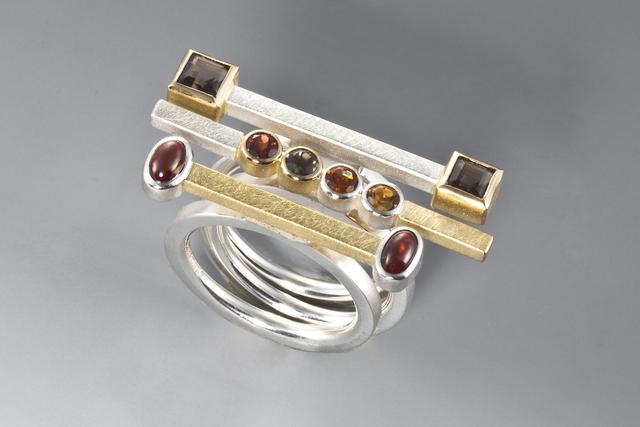 Janis Kerman, 'Stacking Rings', ca. 2015, Facèré Jewelry Art Gallery