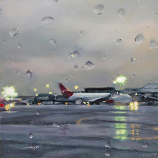 Karen Woods, 'Little Airport ', 2019, Painting, Oil on wood, George Billis Gallery