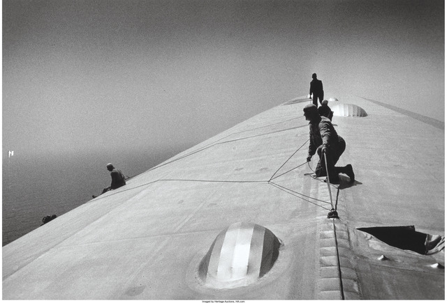 Alfred Eisenstaedt, 'Repairing the Hull of the Graf Zeppelin during the flight over the Atlantic', 1934, Heritage Auctions
