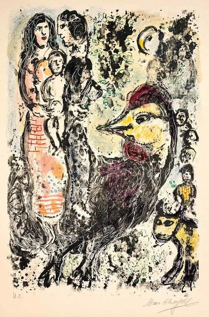 Marc Chagall, 'Family with Rooster (M.567)', 1969, Martin Lawrence Galleries