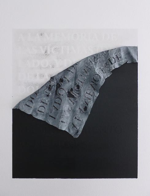 , 'A la memoria de las víctimas (de un lado, y del otro) de la cruel, dolorosa y absurda lucha por el reconocimiento artístico,' 2014, CuratorLove