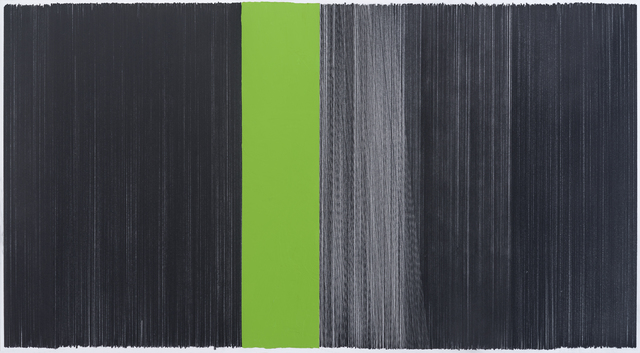 , 'drawing black green,' 2014, Carrie Secrist Gallery