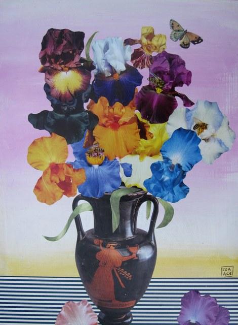 Zoa Ace, 'Iris in a Greek Vase', Abend Gallery