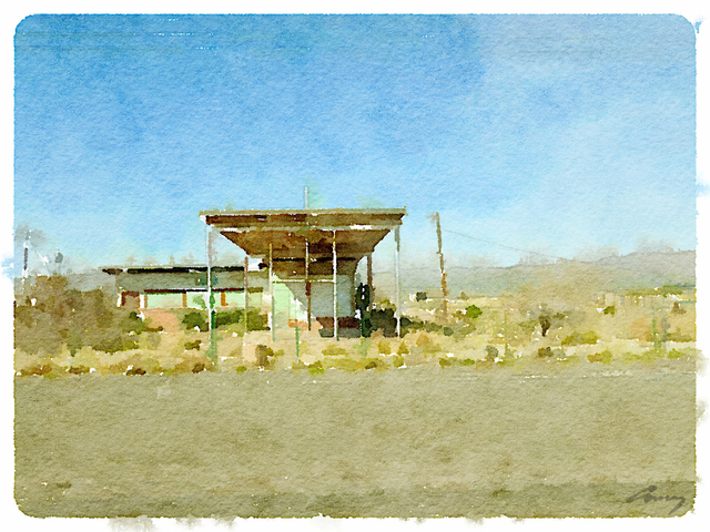 , 'Gas Station, TX,' 2014, TAG Gallery