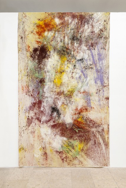 Jessica Warboys, 'Sea Painting, Dunwich', 2015, Painting, Mineral pigments, canvas, Gaudel de Stampa