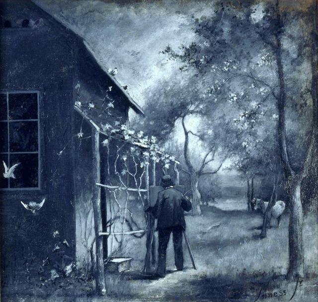 , 'George Inness Sketching Outside His Montclair Studio ,' ca. 1889, Montclair Art Museum