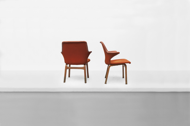 ", 'Pair of dining chairs, model ""Lulu"",' 1960, Side Gallery"