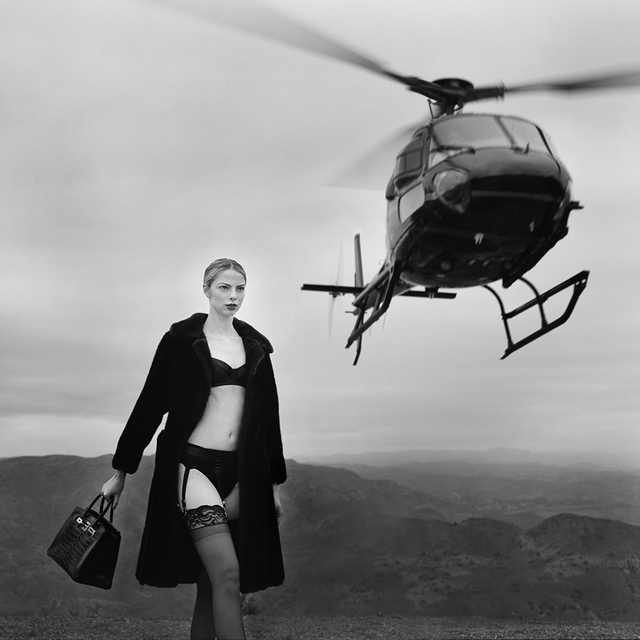 Tyler Shields, 'Helicopter II', 2021, Photography, Chromogenic Print on Canvas, Samuel Lynne Galleries