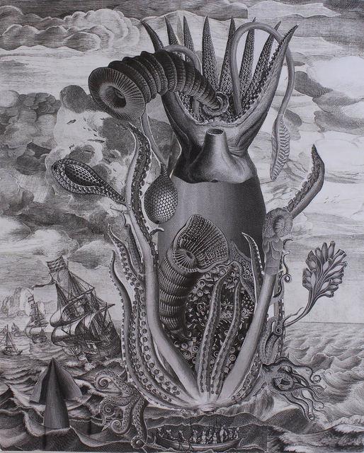 Scott Bluedorn, 'Cephalogod', 2018, Print, Archival digital giclee print on cotton rag paper, ARC Fine Art LLC