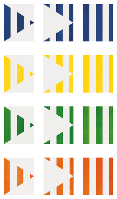 Daniel Buren, '1 + 2 = 3 (Triptych)', 1998, Schellmann Art