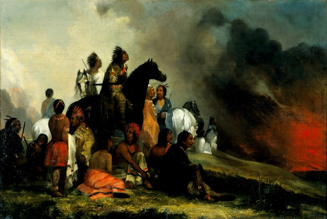 , 'The Prairie Fire,' circa 1850, Blanton Museum of Art