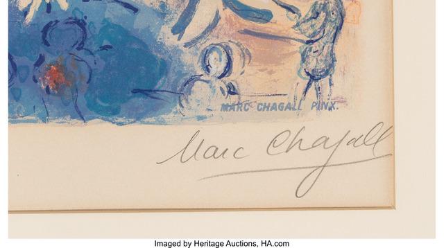 Marc Chagall, 'Avenue de la Victoire à Nice, from  Nice et la Côte d'Azur', 1967, Print, Lithograph in colors on Arches paper, Heritage Auctions