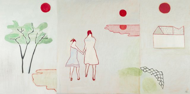 Anne Rothenstein, 'Two Girls Three Moons ', 2019, Candida Stevens Gallery