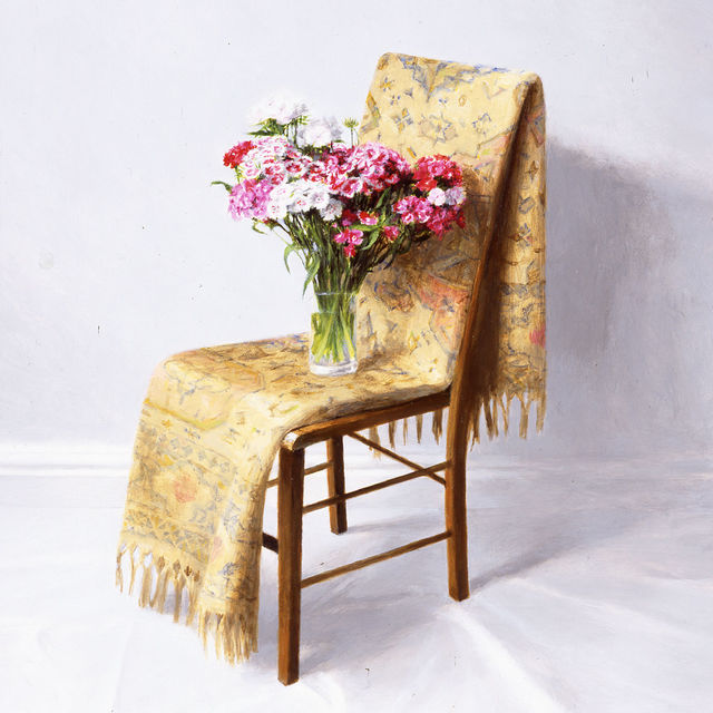 , 'Flowers on a Chair,' 2016, Portal Painters