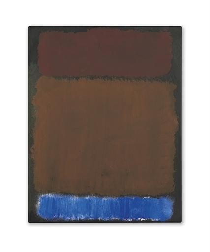 Mark Rothko, 'Wine, Rust, Blue on Black', Christie's