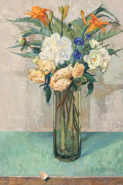 , 'Peonies and Roses,' , Mall Galleries