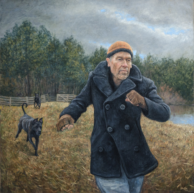Dustin Neece, 'Man with Dogs in the Field', ca. 2000, David Benrimon Fine Art
