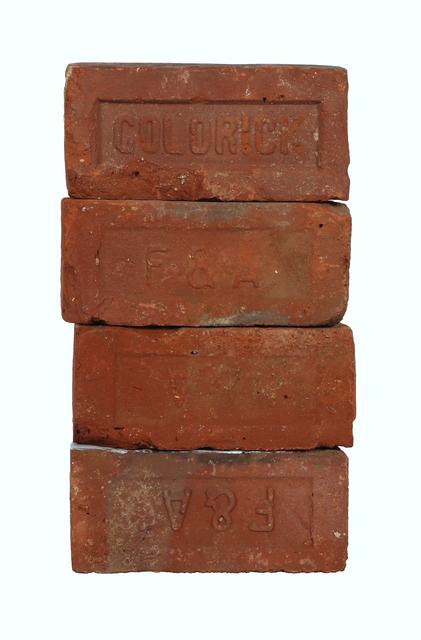 "Vilaykorn Sayaphet, 'Historical Bricks ""from Hudson River in Poughkeepsie"" (Back)', 2018, John Davis Gallery"
