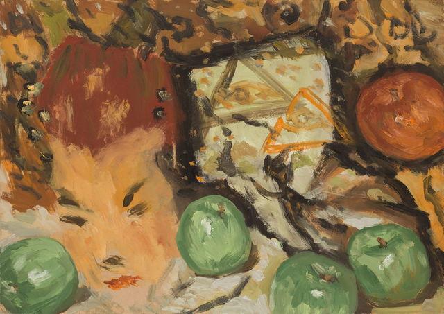 , 'Before an Opening Reception 四平八稳(郑皓中送的绿苹果),' 2019, PIFO Gallery