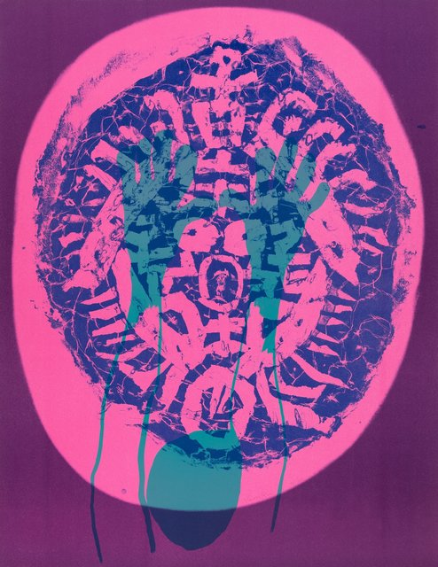 Nam Kwan, 'Human Mask, from Official Arts Portfolio of the XXIVth Olympiad, Seoul, Korea', 1988, Print, Lithograph in colors on wove paper, Heritage Auctions