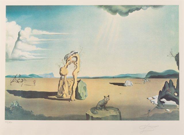 Salvador Dalí, 'Les Betes sauvages dan le desert', 1975, Print, Photolithograph in colors on Arches paper, Heritage Auctions