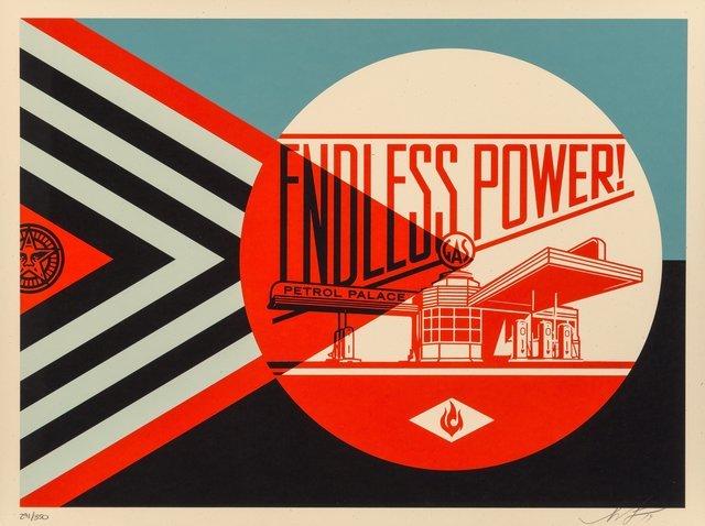 Shepard Fairey, 'Endless Power Petrol Palace (Blue)', 2019, Heritage Auctions