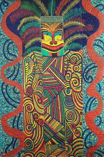 , 'Hopi mask,' 1990, Pacita Abad Art Estate