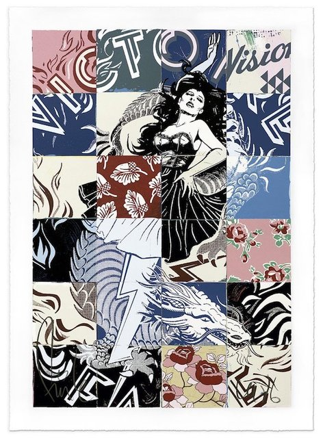 FAILE, 'Visions Victoire', 2017, Print, 16 Layer Silkscreen Print, Dope! Gallery