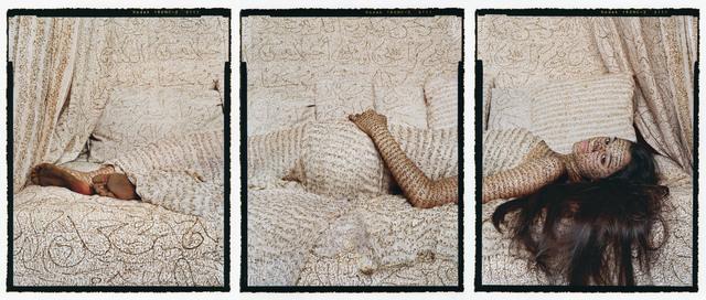 Lalla Essaydi, 'Les Femmes du Maroc: Harem Beauty #1', 2008, Photography, Three chromogenic prints mounted to aluminum with a UV protective laminate, Edwynn Houk Gallery