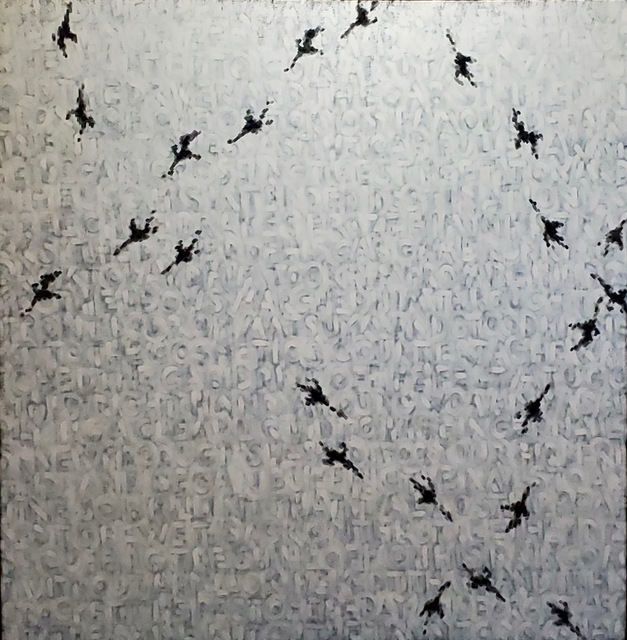 Wayne Miller, 'The Geometry of Birds, Version 5 (Matsuya Ginsa)', 2014, Painting, Oil/Acrylic Stain/Canvas, Miller White Fine Arts