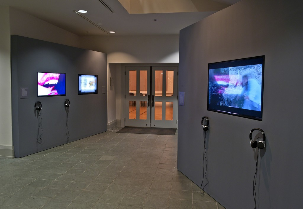 "Installation view of ""The ROCI Road to Peace: Experiments in the Unfamiliar"" at the Academy Art Museum, Easton, 2015-2016. Photo: George Holzer"