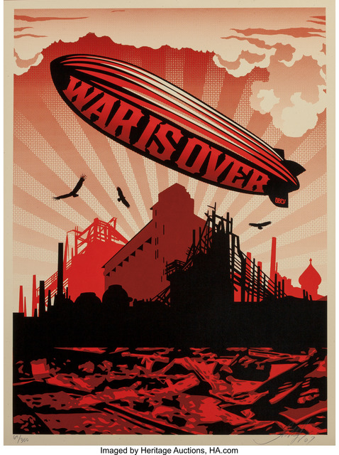 Shepard Fairey (OBEY), 'War is Over', 2007, Heritage Auctions