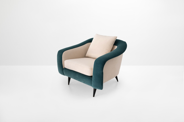 """, 'Armchair model """"Curva"""" (curved),' 1960, Side Gallery"""