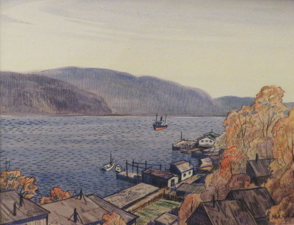 , 'The Northern Ranger at Hopping Harbour, Newfoundland,' ca. 1937, Arctic Experience McNaught Gallery
