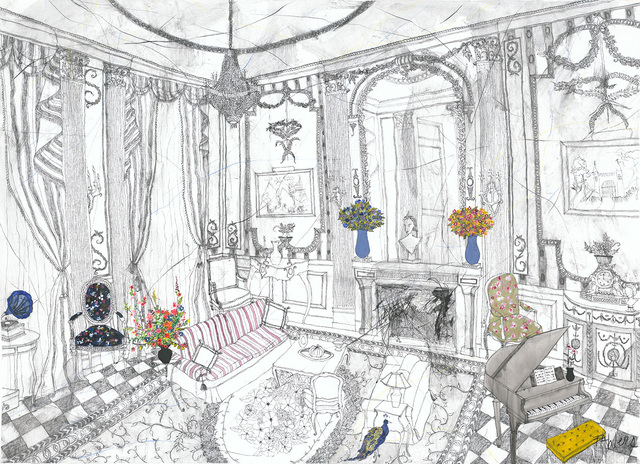 Francisca Ahlers, 'The Peacock in the Lounge', 2019, Villa del Arte Galleries