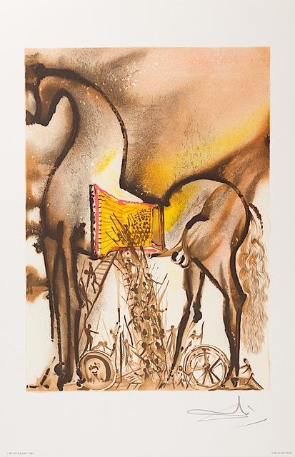 Salvador Dalí, 'Cheval de Troie (Trojan Horse)', 1983, Art Lithographies