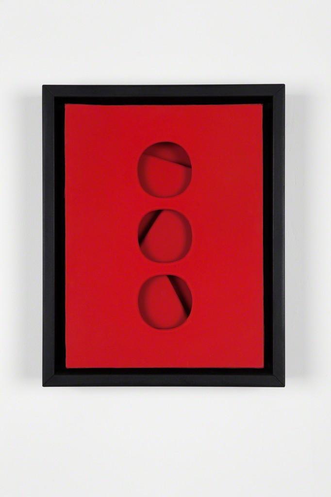 Paolo Scheggi, 'Intersuperficie curva dal rosso,' 1966, Almine Rech