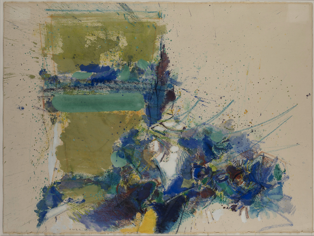 John Harrison Levee, 'Untitled', 1959, Drawing, Collage or other Work on Paper, Gouache, watercolor and pastel on paper, Millon
