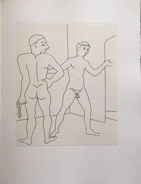 André Derain, 'Erotic Male Nude - Etching from Le Satyricon', 20th Century, Lions Gallery