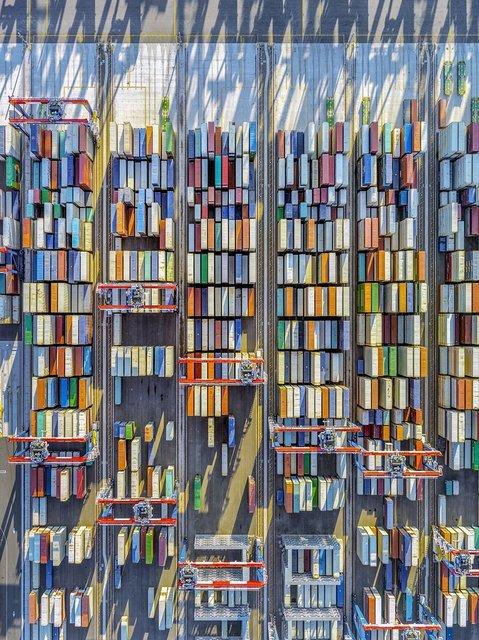 Jeffrey Milstein, 'Container Port 43', 2019, Bau-Xi Gallery
