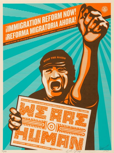 Shepard Fairey, 'Immigration Refrom Now!', 2009, Heritage Auctions