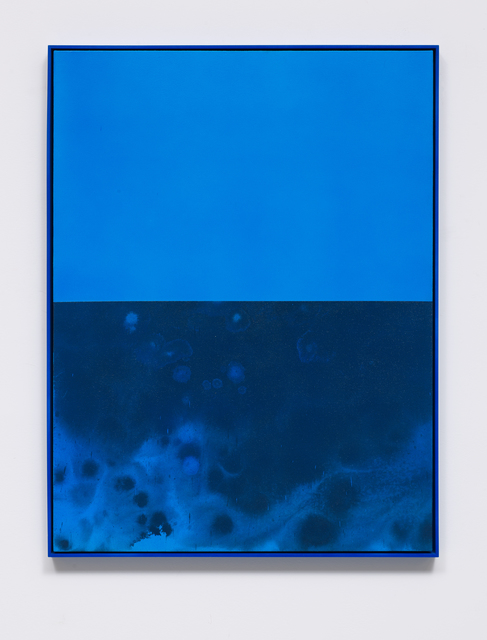Sayre Gomez, 'Untitled Painting in Cerulean', 2014, Painting, Acrylic on canvas over panel in artists frame, Creative Art Partners