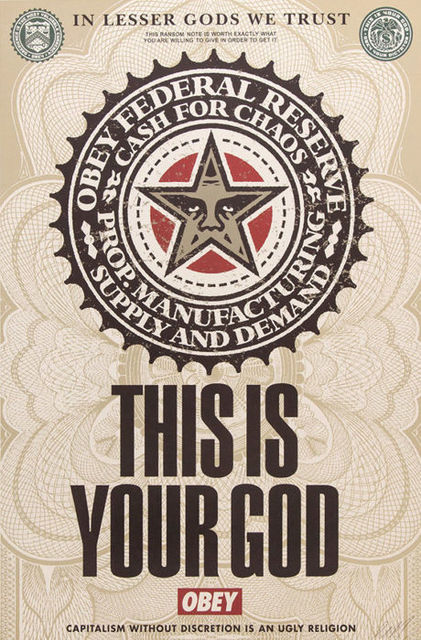 Shepard Fairey (OBEY), 'This is your god offset', 2003, Rudolf Budja Gallery