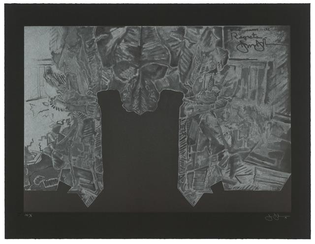 Jasper Johns, 'Regrets', 2014, Print, Intaglio on Hahnemuhle Black, Universal Limited Art Editions