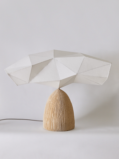 Steven Haulenbeek, 'RBS Webcoat Lamp', 2020, Design/Decorative Art, Resin Bonded Sand with Webcoat Shade, Egg Collective