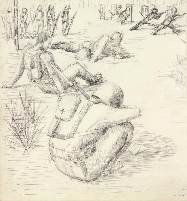 , 'Training in Florida V,' 1943, Betty Cuningham