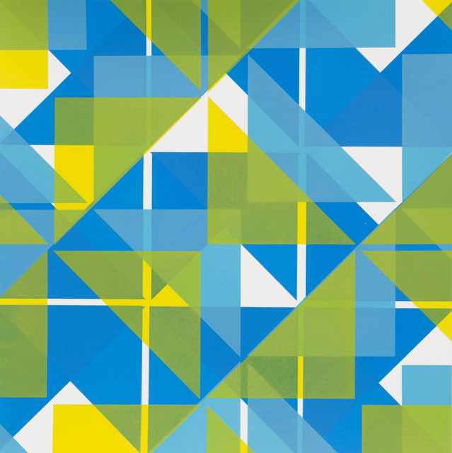 Fiona Grady, 'Triangulations (blue)', 2018, JGM Gallery