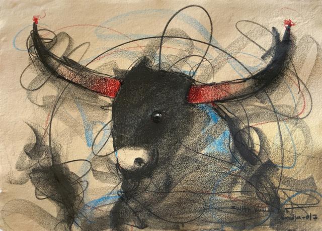 Sujth Kumar G.S. Mandya, 'Bull Drawing - 655', 2017, MayinArt